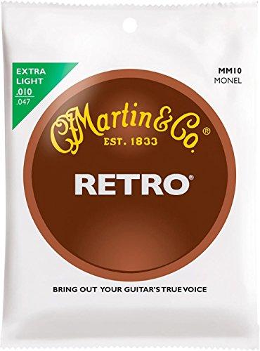 Martin Retro Acoustic Guitar Strings - .010-.047 Extra Light