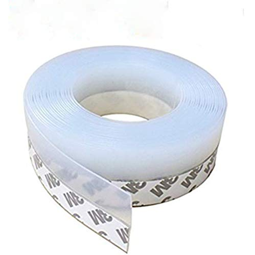 Door Seal Weatherstripping (Self-Adhesive Weather Stripping Door Draft Stopper Silicone Seal Strip for Doors and Windows,16Ft,Translucence(35 mm-Width))