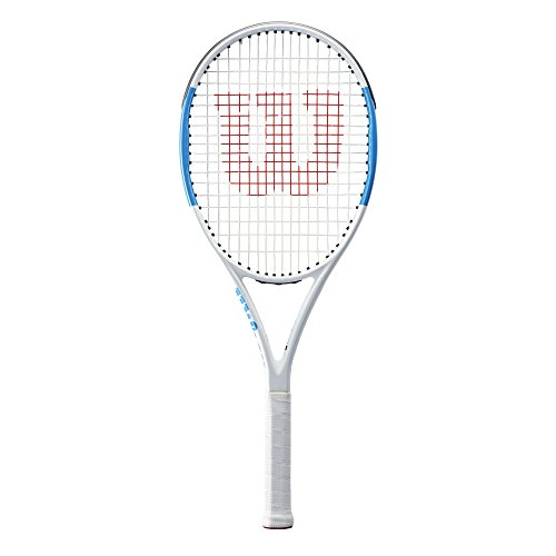 Wilson Ultra Team 100 Tennis Racket, White/Blue, 4 3/8
