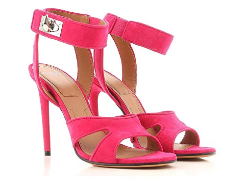 Givenchy Women's Fuchsia Suede Leather High Heel Sandals Shoes - Size: 9.5 US