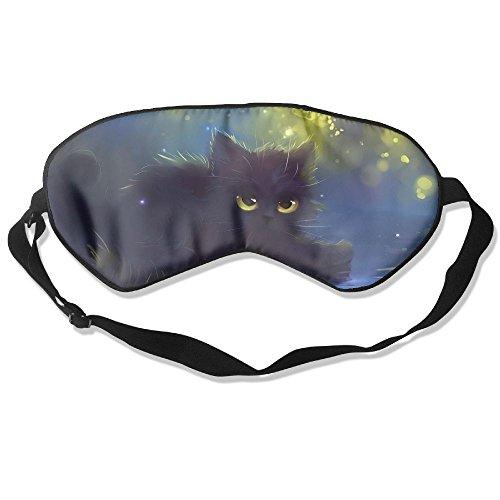 Lovely Black Kitten Cat Eye Mask Sleeping Mask Silk Mask Shade Sleep Gossles - Black Cat Tiffany