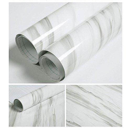 QueenBox® Peel and Stick Tile Backsplash Vinyl Film Self Adhesive Wall Sticker Thick Waterproof Imitation Marble Stickers Wallpaper - Imitation Marble