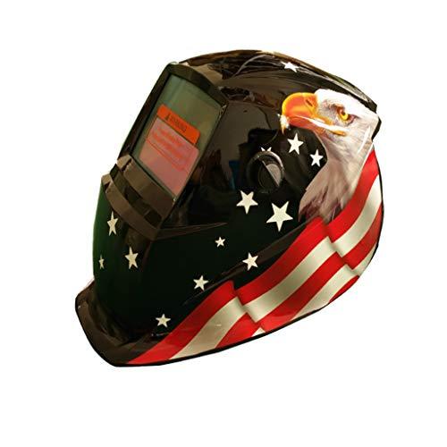 (Rigel Solar Powered Auto Darkening Welding Helmet Arc Tig Mig Protect Grinding Welder Mask (D))