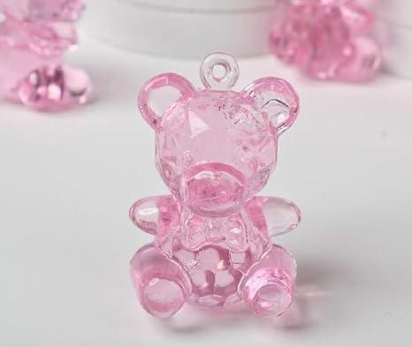 Amazon.com: Claro Rosa Plástico Mini Baby Bears para Baby ...