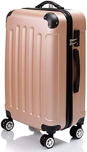 Color : Gold, Size : M GaoMiTA ABS Matte Luggage Trolley case Suitcase 20 inch 24 inch Men and Women