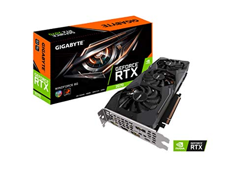 - Gigabyte GeForce RTX 2070 Windforce 8G Graphics Card, 3X Windforce Fans, 8GB 256-Bit GDDR6, GV-N2070WF3-8GC Video Card