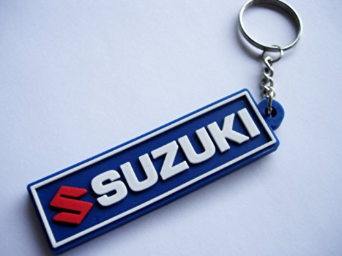 Keychains llavero – Suzuki – Blue – Motocross – Motorcycle – Motorbike – Car – Scooter – Key Ring – Kautschuk rrubber Keyring – Perfect also Bags, ...
