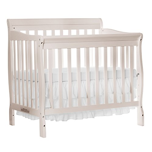 Dream On Me Aden Convertible 4-in-1 Mini Crib, French White - Crib Chest