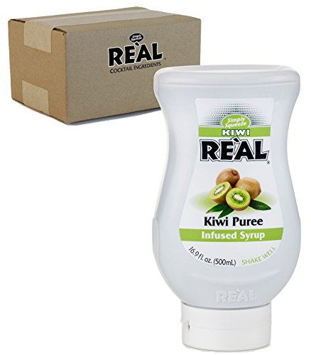 Kiwi Reàl, Kiwi Puree Infused Syrup, 16.9 FL OZ Squeezable Bottle (Pack of 1) ()