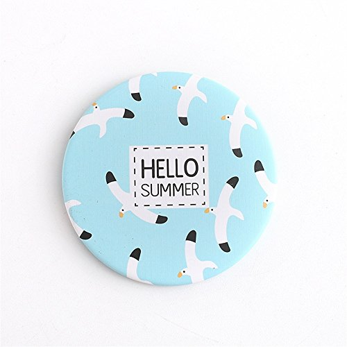Yingealy Childrens Mirror Mini Round Cartoon Seagull Pattern Small Glass Mirrors Circles for Crafts Decoration Cosmetic Accessory by Yingealy