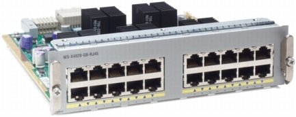 Cisco Powerline Network Adapters - Cisco WS-X4920-GB-RJ45= 20 Port 10 100 1000 RJ45 FD