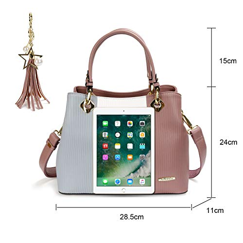 Pomelo Women's Handbag White Best Best Grey Purple Pomelo Women's qwI5aSgc