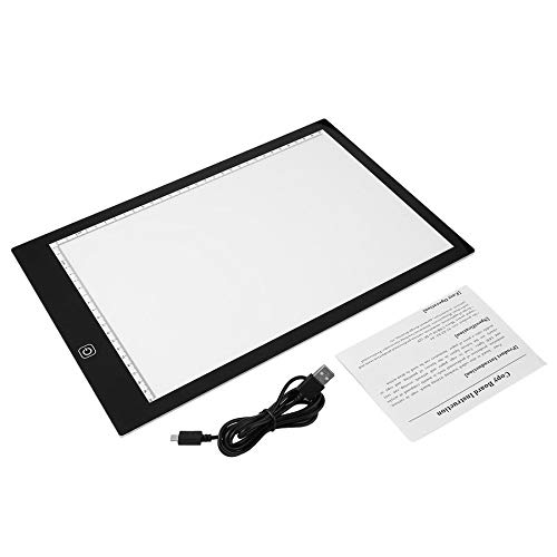 (K03 LED Luminous Drawing Tracing Pad Dimmable Art Stencil Copy Wrting Board)