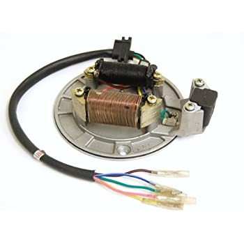 diagram amazon com: 5 wires magneto/stator for chinese made 50cc, 70cc,  new racing cdi