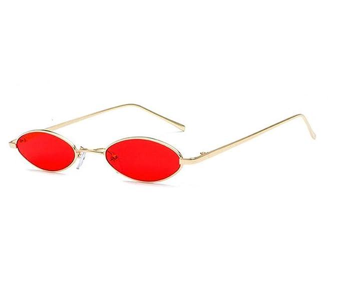 Fuyingda Gafas de sol ovaladas Vintage Gafas de metal ...