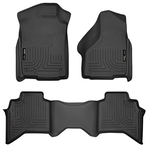 Husky Liners 99011 Black Weatherbeater Front & 2nd Seat Floor Liners Fits 2009-2018 Dodge Ram 1500 Quad Cab, 2019 Dodge Ram 1500 Classic Quad Cab