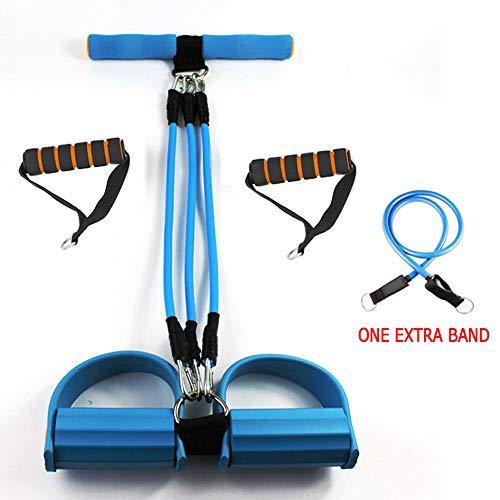 (ITTA Public Sit-ups Strength Trainer Rally Yoga Resistance Bands Four 4 Tube Pedal Puller Arm Abdomen Expander Strength Trainer for Home Gym Workouts 10kg 20kg 30 kg 40kg)