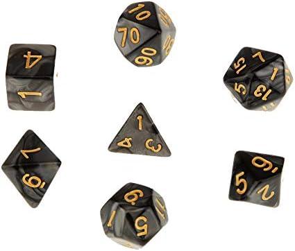 Juegos de mesa exquisita dados Juguete de los dados práctica Poliédrica Dice para Dungeons Juego de dragones Negro 7Pcs: Amazon.es: Juguetes y juegos