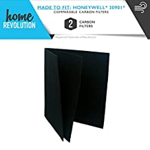 2 Honeywell and Hunter Replacement Carbon Pre-Filters; Fits Honeywell and Hunter 30901 Compare to Part # 30901, 30903, 30907, 30958, 30959, 30907, 30909, 30927; Home Revolution Brand Replacement