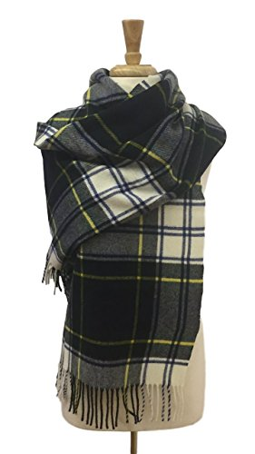 Women's Stole / Shawl - Merino Lambswool Wrap - Tartan Dress Gordon