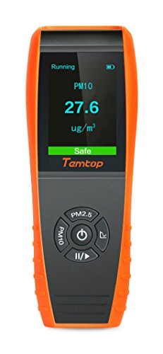 Temtop P600 Air Quality Laser Particle Detector Professional Meter Accurate Testing for PM2.5/PM10 TFT Color LCD Display by Temtop