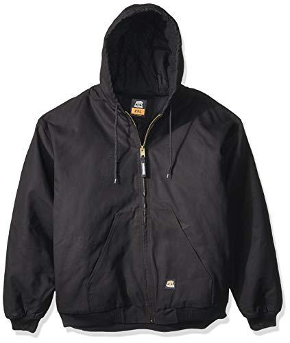 Berne Men's Original Hooded Jacket, Black, Large/Regular