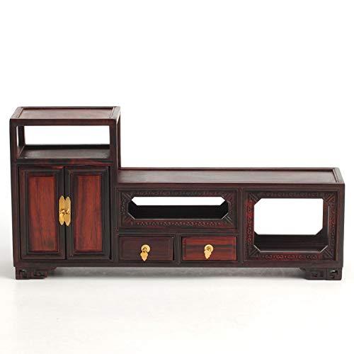 (ZAMTAC S Gallery Fake Ming Furniture Rosewood Zhai Model TV Cabinet Miniature Furniture Rosewood Crafts)