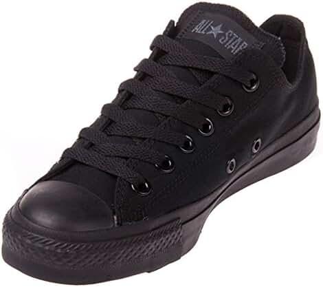 Converse Unisex Chuck Taylor All Star Low Top Black Monochrome Sneakers - 8.5 B(M) US Women / 6.5 D(M) US Men