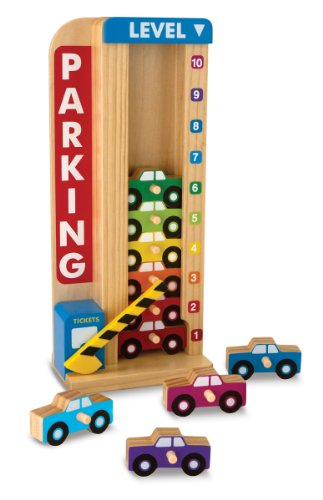 Melissa & Doug Stack & Count Parking Garage (Melissa And Doug Car Carrier)