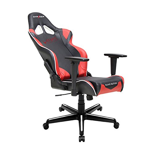 41c1Rszg CL - DX-Racer-DOHRZ205NR-Quake-Champion-Racing-Bucket-Seat-Office-Chair-Gaming-Chair-Ergonomic-Computer-Chair-eSports-Desk-Chair-Executive-Chair-Furniture-with-Free-CushionsBlackRed