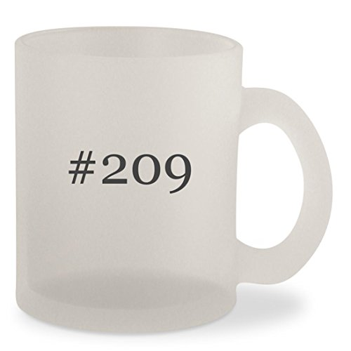 #209 - Hashtag Frosted 10oz Glass Coffee Cup Mug
