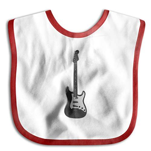 XHX Baby's Rock Band Fender Stratocaster Musical Instrument Electric Guitar - Musical Guitar Bass Saliva Towel Bibs Burp Cloths (Fender Rumble 100 Bass Amp For Sale)