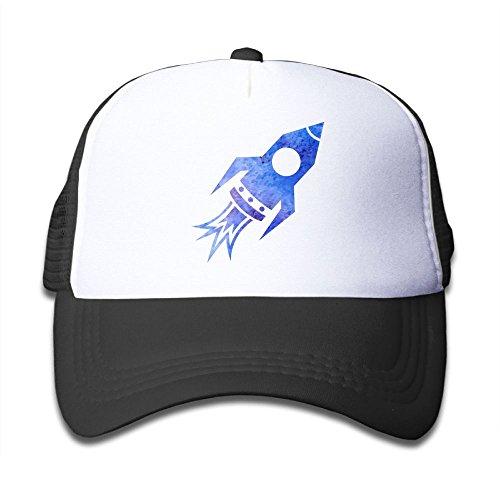(Blue Rocket Ship Boy Snapback Adjustable Mesh Baseball Caps)