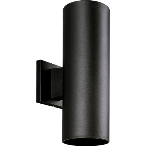 (Progress Lighting P5713-31 5-Inch Non-Metallic Cylinder with Only Non-Corrosive Hardware Components Used and UL Listed for Wet Locations, Black)