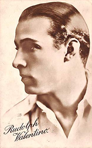 Rudolph Valentino Movie Star Actor Actress Film Star Postcard, Old Vintage Antique Post Card 1929