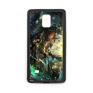 Samsung Galaxy Note 4 Cell Phone Case Black League of Legends Fnatic Janna Yscqu
