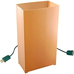 JH Specialties 10- Count Electric Luminaria Kit- Tan/Kraft