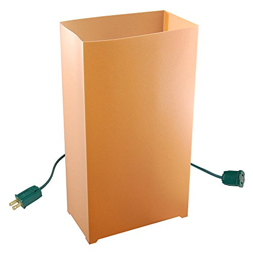 JH Specialties 10- Count Electric Luminaria Kit- Tan/ Kraft Luminaria Kit
