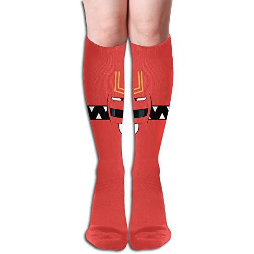 Power Rangers Design Elastic Blend Long Socks Compression Knee High Socks (50cm) For Sports