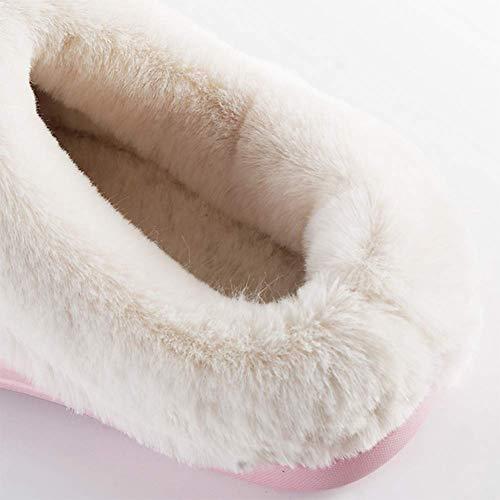 Pink Antidérapant Chaussons Accueil Fond Chaussures Peut Chenille Unisexe L'extérieur Coton Porté Épais Chaud Intérieur À Imperméable Garder Être EVA Hiver Au SFHK Env1xqYP