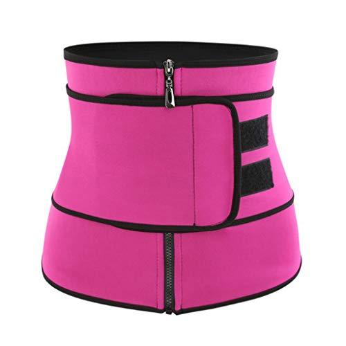 Sunyastor Body Shaper for Women, Women Waist Trainer Cincher Corset Slimming Body Shaper Belt Tummy Control Sport Girdle Hot Pink