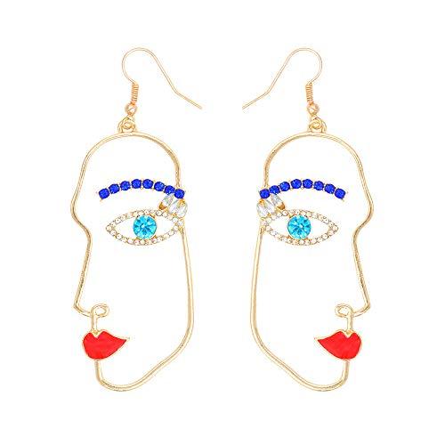 - JOYID Abstract Face Dangle Earrings Women Face Contour Fashion Jewelry for Women Girls-Stype 1