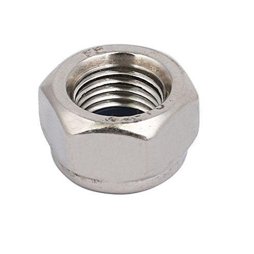 4 Pieces M12 x 1.25 mm Metric Pitch Fine Thread 304 Stainless Steel Hexagonal locknuts 304