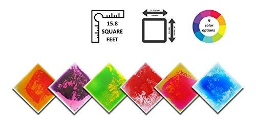 Liquid Floor Tile Six Pack - by Playlearn (Mixed Color) 30 x - Stone Tiles Lava
