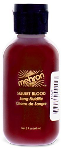 Mehron Makeup Squirt Blood (2 oz) (Bright Arterial) -