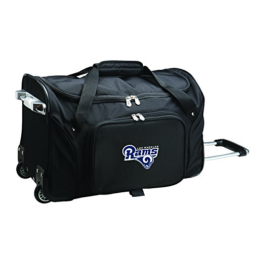 NFL Los Angeles Rams Wheeled Duffle Bag by Denco