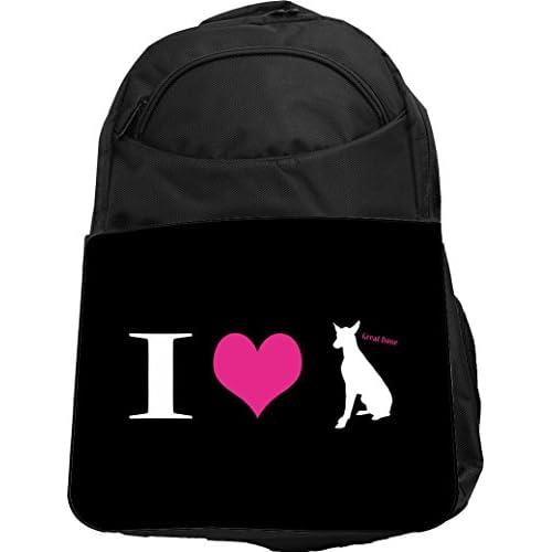 Rikki Knight UKBK I Love My Great Dane Dog Tech BackPack - Padded for Laptops & Tablets Ideal for School or College Bag BackPack