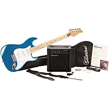 Silvertone Citation Electric Guitar and Amp Package, Candy Blue