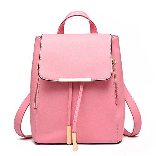 Z-joyee Casual Purse Fashion School Leather Backpack Shoulder Bag Mini Backpack for Women & ()