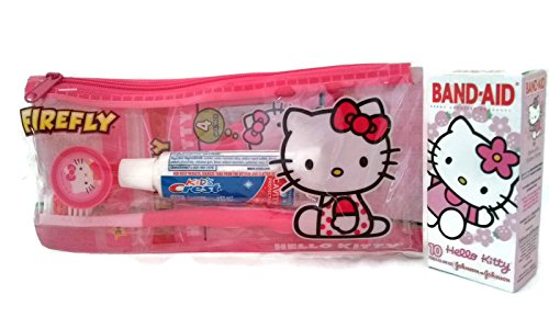Hello Kitty Dental Travel Kit with Hello Kitty Band-Aids